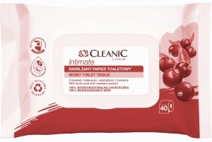 Cleanic Intimate Nawilżany Papier toaletowy  1op.-40szt