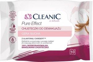 Cleanic Chusteczki do demakijażu Pure Effect - cera sucha 1op.-10szt
