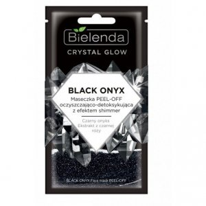 Bielenda Crystal Glow Maseczka peel-off oczyszczająco-detoksykująca Black Onyx  8g