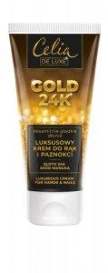 Celia Gold 24K Luksusowy Krem do rąk i paznokci  80ml