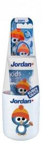 Jordan Junior Zestaw (Pasta do zębów dla dzieci 0-5 lat 50ml+szczoteczka+kubek) mix