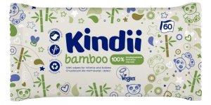 Kindii Bamboo Bambusowe Chusteczki oczyszczające dla dzieci i niemowląt  1op.-60szt