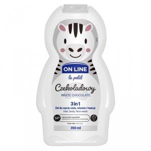 On Line Le Petit Żel do mycia ciała,włosów i twarzy 3w1 dla dzieci Czekoladowy  350ml