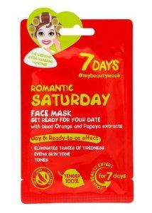 VILENTA 7 Days Maska na twarz przeciw oznakom zmęczenia Romantic Saturday  28g