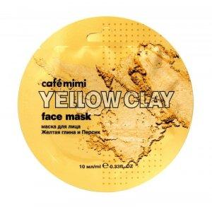 Cafe Mimi Yellow Clay Maseczka do twarzy Żółta Glinka & Brzoskwinia  10ml