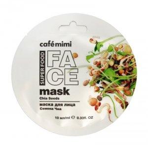 Cafe Mimi Super Food Maseczka do twarzy Nasiona Chia & Oliwa  10ml