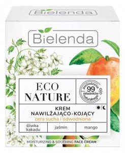 Bielenda Eco Nature Krem nawilżająco-kojący na dzień i noc - Śliwka Kakadu & Jaśmin & Mango 50ml