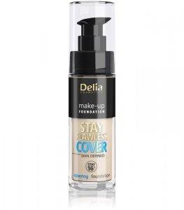 Delia Cosmetics Stay Flawless Cover Podkład kryjący 16H nr 503 Warm Beige 30ml