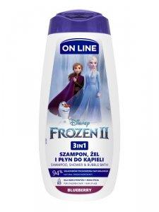 On Line Disney Żel pod prysznic 3w1 dla dzieci Frozen II - Blueberry  400ml