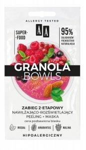 AA Granola Bowls Zabieg 2-etapowy nawilżająco rozświetlający Glow - cera pozbawiona blasku 8ml(4mlx2)