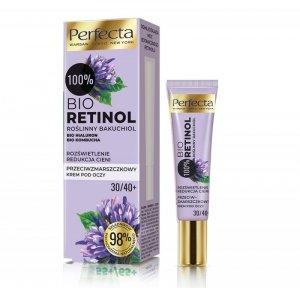 Perfecta 100% Bio Retinol 30/40+ Przeciwzmarszczkowy Krem pod oczy - rozświetlenie i redukcja cieni 15ml
