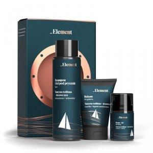 Element Men Zestaw prezentowy (krem-żel 50ml+balsam po goleniu 125ml+żel 2w1 400ml)