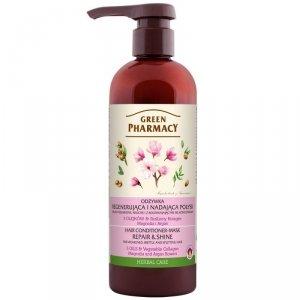 Green Pharmacy Odżywka do włosów regenerująca i nadająca połysk - Magnolia i Argan  480ml