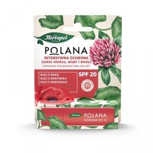 HERBAPOL Polana Pomadka pielęgnacyjna do ust Intensywna Ochrona SPF20  4.7 g