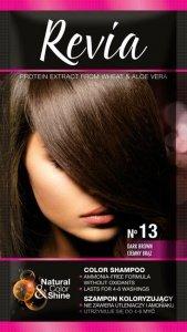 Revia Szampon koloryzujący do włosów nr 13 Ciemny Brąz  1op.