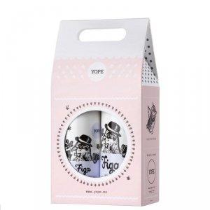 YOPE Zestaw prezentowy Figa (mydło w płynie 500ml+balsam do rąk 300ml)