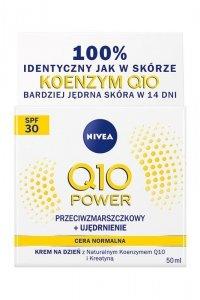 Nivea Q10 Power Krem przeciwzmarszczkowy+ujędrnienie SPF30 na dzień - cera normalna  50ml