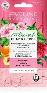 EVELINE NATURAL CLAY&HERBS Maseczka Różowa Glinka