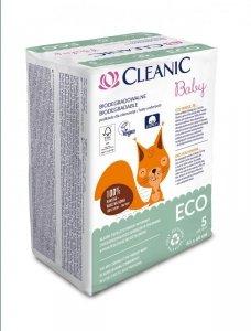 Cleanic Baby Eco Podkłady jednorazowe dla niemowląt  - biodegradowalne  1op.-5szt