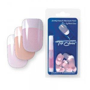 Top Choice Sztuczne paznokcie French Manicure różowe 7866R