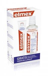 Elmex Zestaw w kasecie Przeciw Próchnicy (płyn do płukania ust 400ml + pasta do zębów 75ml)