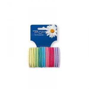 Top Choice Akcesoria do włosów  Gumki do włosów mix  1op-18szt  22180