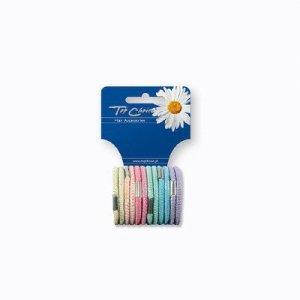 Top Choice Akcesoria do włosów Gumki Pastel (22494)  1op-12szt