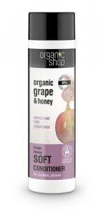 Organic Shop Odżywka do włosów Delikatna Pielęgnacja Winogrono i miód
