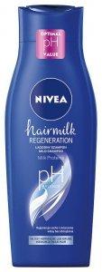 NIVEA Hair Milk Szampon mleczny do włosów normalnych,suchych i zniszczonych 400ml