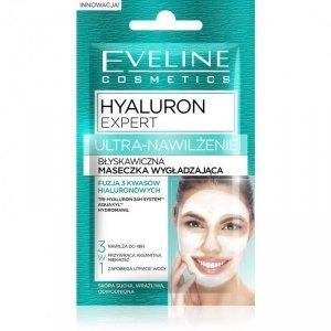 Eveline Hyaluron Expert Ultra-Nawilżenie Maseczka wygładzająca błyskawiczna - saszetka  2x5ml