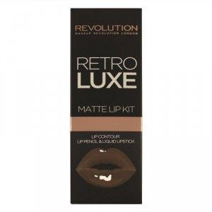 Makeup Revolution Retro Luxe Matte Lip Kits Zestaw do ust (konturówka +błyszczyk) Glory  1op.