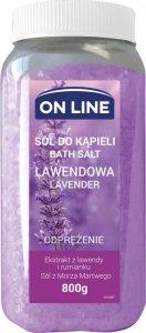 On Line Odprężająca Sól do kąpieli Lawenda  800g