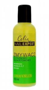 Celia Nail Expert Zmywacz do paznokci bezacetonowy - zapach Winogron  100ml