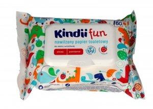 Kindii Fun Nawilżany Papier toaletowy dla dzieci   1op.-60szt