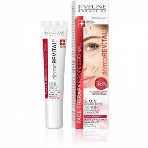 Eveline Face Therapy Professional Ekspresowe Serum S.O.S. redukujące zmarszczki pod oczy,na czoło i okolice ust  15ml