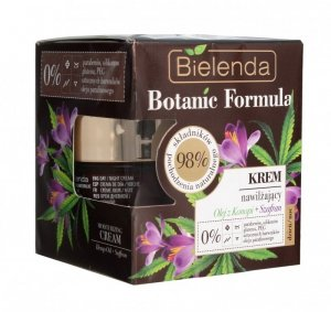 Bielenda Botanic Formula Olej z Konopi+Szafran Krem nawilżający na dzień i noc  50ml