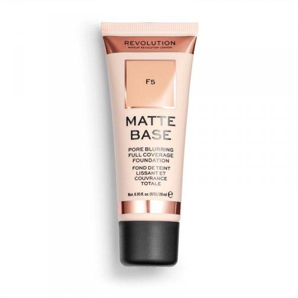 Makeup Revolution Podkład matujący do twarzy Matte Base Foundation F5  28 ml