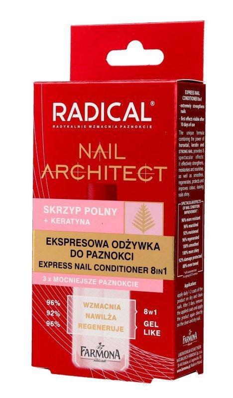 Farmona Radical Nail Architect Ekspresowa Odżywka do paznokci 8in1  12ml