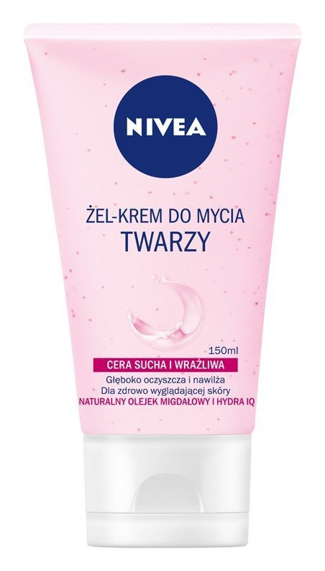Nivea Żel-krem do mycia twarzy do cery suchej i wrażliwej  150ml