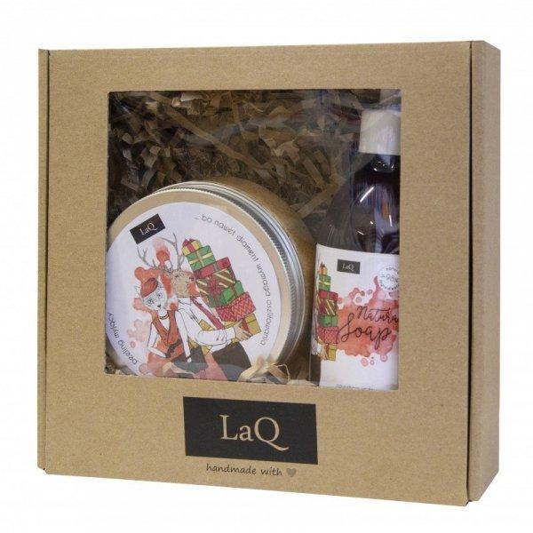 LaQ Zestaw prezentowy Świąteczna Pralinka (peeling 300ml+żel pod prysznic 200ml)