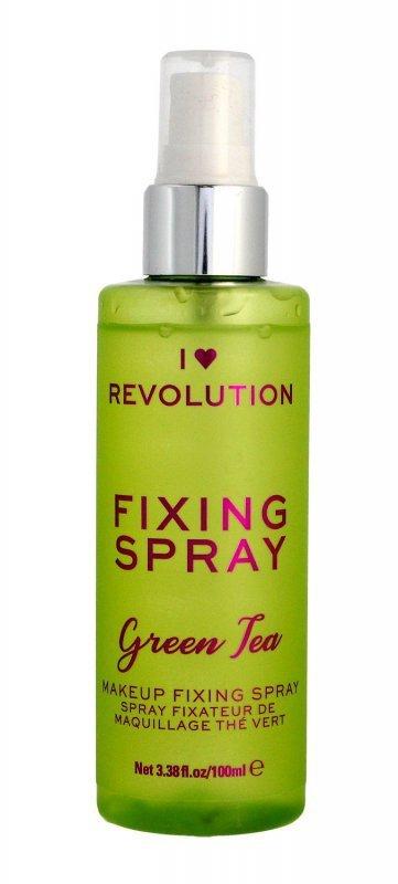 I Heart Revolution Fixing Spray Mgiełka utrwalająca makijaż Green Tea  100ml