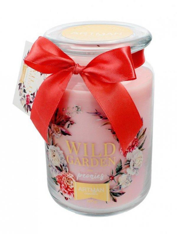 ARTMAN Świeca zapachowa Wild Garden Peonies słoik duży 1szt-700g