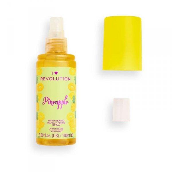 I Heart Revolution Brightening Makeup Fixing Spray utrwalający makijaż Pineapple  100ml