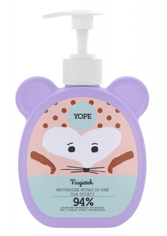 YOPE Naturalne Mydło do rąk dla dzieci - NAGIETEK  400ml