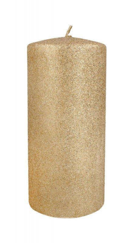 ARTMAN Świeca ozdobna Glamour rose gold- walec średni 1szt