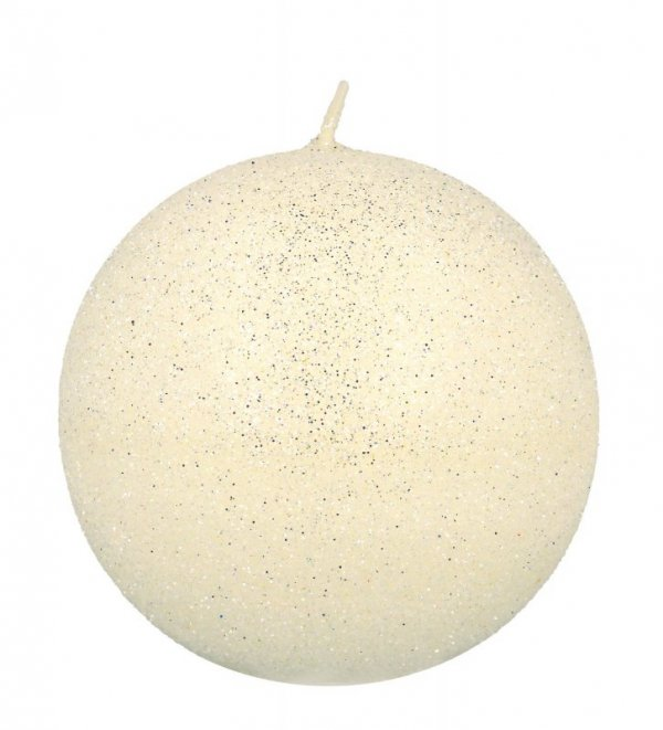 ARTMAN Świeca ozdobna Glamour biała - kula mała 1szt