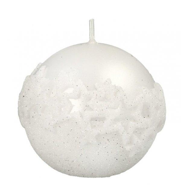 ARTMAN Boże Narodzenie Świeca ozdobna Ice Star biała - kula mała 1szt