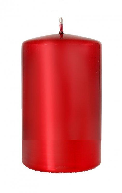 ARTMAN Boże Narodzenie Świeca ozdobna Lustro czerwona - walec mały 1szt