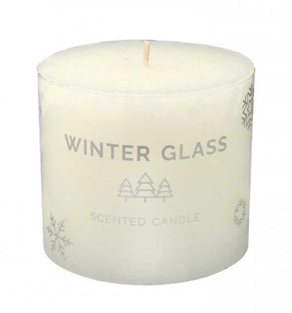 ARTMAN Boże Narodzenie Świeca zapachowa Winter Glass biały - walec mały 1szt