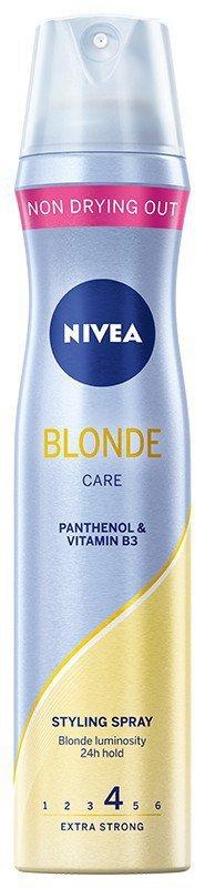 Nivea Hair Care Styling Lakier do włosów Blond Care  250ml